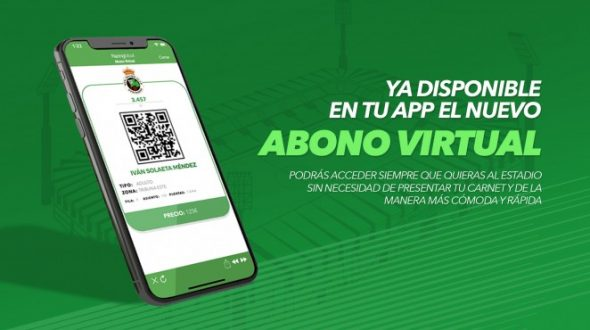El Abono Virtual del Racing, disponible en la APP oficial verdiblanca